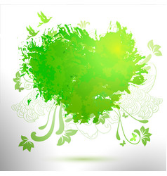 Green ecology hand drawing watercolor vector