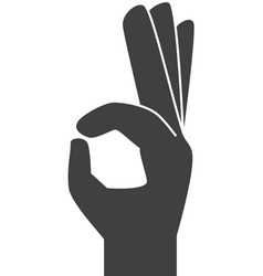 Hand ok symbol sign icon vector image
