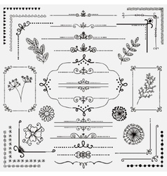 Hand Sketched Rustic Design Elements vector image vector image