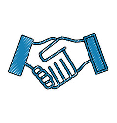 Handshake symbol isolated vector