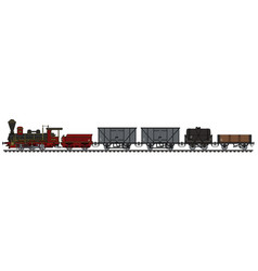 historical steam freight train vector image vector image