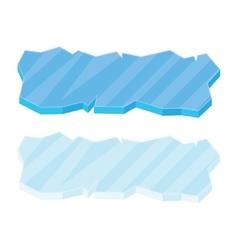 Ice floe icon set vector image