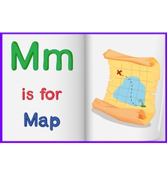 Map in a book vector image
