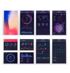Mobile application ui and smartphone ux vector