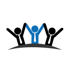 pictogram emblem with group of executives vector image vector image