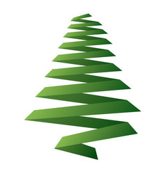 pine tree ribbon shape christmas decoration image vector image vector image