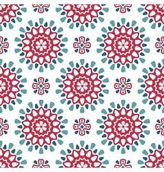 Round retro pattern vector image vector image