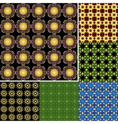 seamless bright backgrounds with geometric element vector image vector image