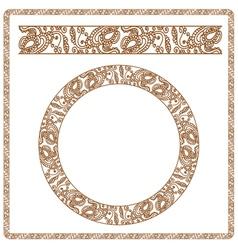 Seamless pattern stylized as henna vector image