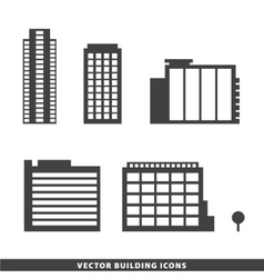Set of office buildings apartments vector