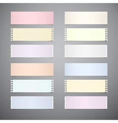 Set of Retro Paper Sheets on Grey Background vector image vector image