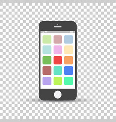 Smartphone icon flat phone on isolated background vector