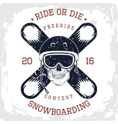 Snowboarding king t-shirt graphic vector