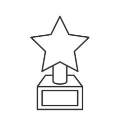 star trophy icon vector image vector image