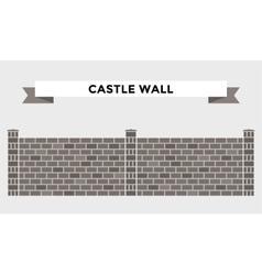 Stone bricks fence isolated on white background vector image