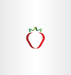 strawberry stylized icon vector image
