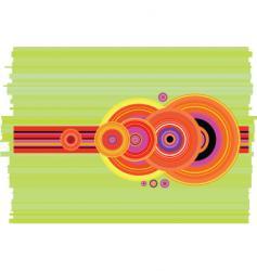 Stripe crop circle flip vector