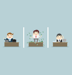 three office scenes vector image
