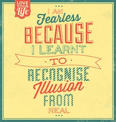 Typographic quote template vintage background vector