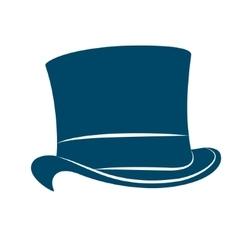 Vintage man s top hat label top hat vector