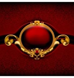 Vintage Red Frame vector image vector image