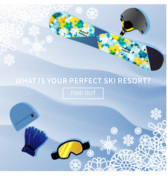 winter holidays ski resort banner vector image vector image