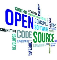Word cloud open source vector