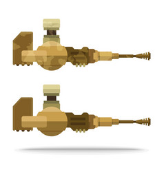 Sand color flat airship weapon for game vector