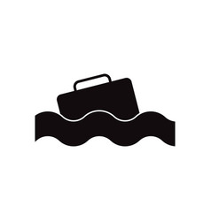 black icon on white background suitcase in vector image