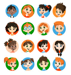 Kids avatar collection vector