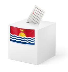 Ballot box with voting paper kiribati vector
