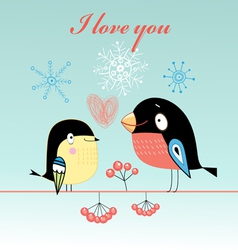 Lovers tit and bullfinch vector
