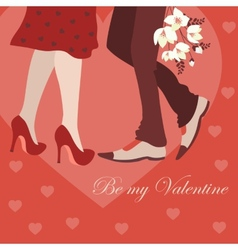 Dating man and woman greeting card vector