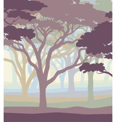 Pastel woodland vector