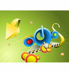 abstract 3d button vector image