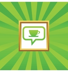 Cup message picture icon vector