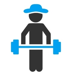 Person power lifting icon vector