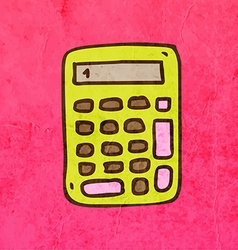 Calculator cartoon vector
