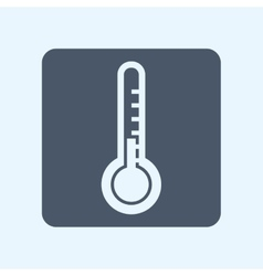 Thermometer square icon vector