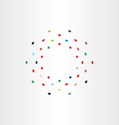 Colorful particles squares fly circle motion icon vector