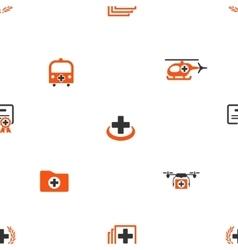 Emergency seamless flat wallpaper vector