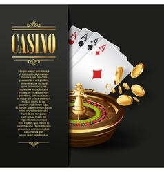 Casino background Gambling vector image
