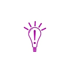 Creative idea in bulb shape as inspiration concept vector