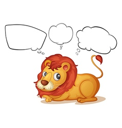 A young lion with empty callouts vector image