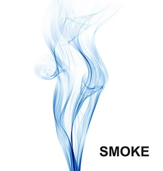 Abstract background blue smoke waves on white vector