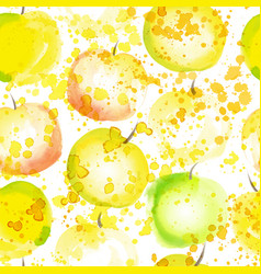 apple slice seamless pattern with splashes summer vector image