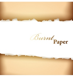 burnt paper frame vector image