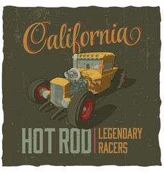 california legendary racers poster vector image