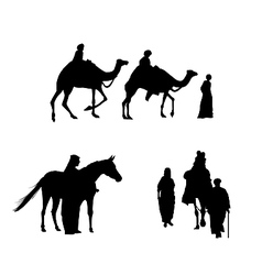 caravan of camels vector image