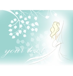 card with woman vector image vector image